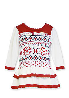Bonnie Jean® Fair Isle Sweater Dress