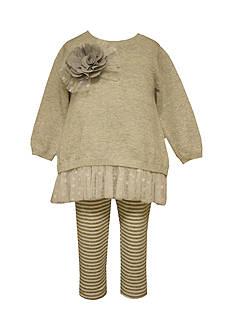Bonnie Jean Sparkle Sweater And Leggings Set