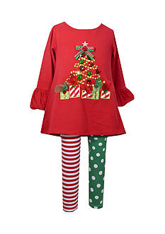 Bonnie Jean Christmas Tree Tunic & Leggings Set Infant/Baby Girls