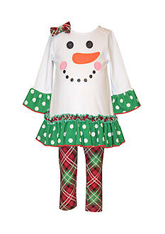 Bonnie Jean Snowgirl Dress And Legging Set Toddler Girls