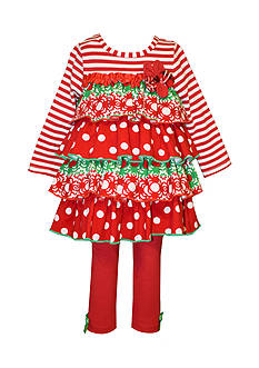 Bonnie Jean Tiered Ruffle Top And Legging Set Toddler Girls