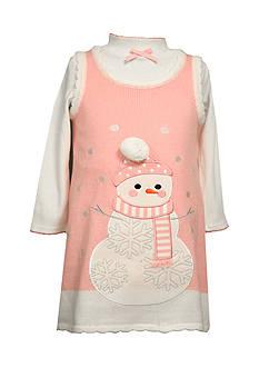 Bonnie Jean Snowman Sweater Dress Toddler Girls