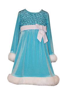 Bonnie Jean Sequin Santa Dress Toddler Girls