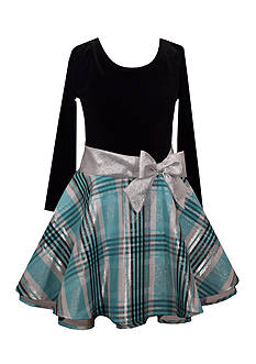 Bonnie Jean Drop Waist Plaid Dress Toddler Girls