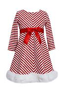 Bonnie Jean Chevron Sequin Santa Dress Toddler