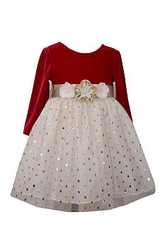 Bonnie Jean Polka Dot Mesh Dress Toddler Girls