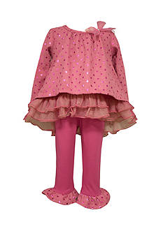 Bonnie Jean Sparkle Sweater And Legging Set Toddler Girls