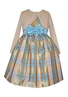 Bonnie Jean Taffeta Cardigan Dress Toddler Girls