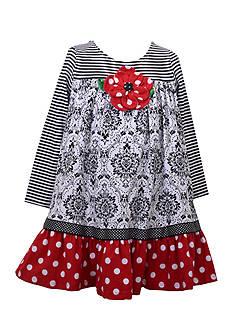 Bonnie Jean Mixed Media Dress Toddler Girls