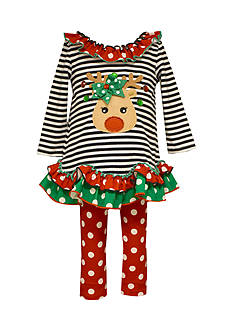 Bonnie Jean Reindeer Tunic And Legging Set