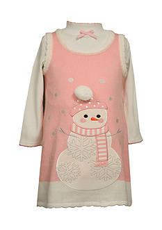 Bonnie Jean Snowman Sweater Dress