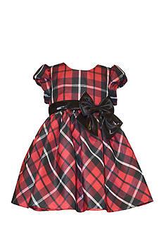 Bonnie Jean Plaid Taffeta Dress