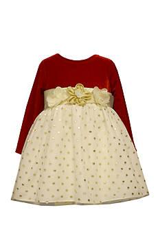 Bonnie Jean Velvet Floral Dress