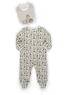 Little Me Newborn Boy Safari Footed Layette Set
