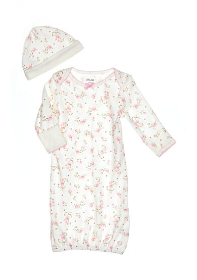 Little Me Vintage Rose Gown with Hat