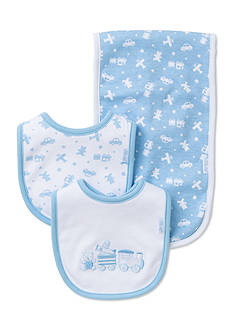 Little Me 3-Piece Toy Time Bibs and Burp Cloth Set