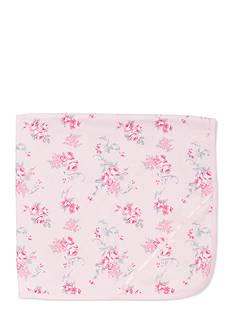 Little Me Scroll Rose Receiving Blanket