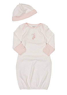Little Me Newborn Girl Ballerina Gown with Hat