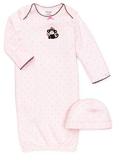 Little Me Pretty Monkey Gown & Hat