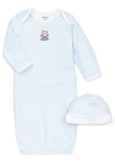 Little Me Chevron Bear Gown With Hat