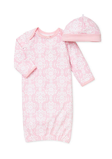 Little Me 2-Piece Damask Gown with Hat