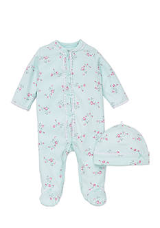 Little Me 2-Piece Floral Footie and Hat Set