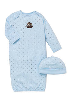 Little Me 2-Piece Monkey Star Gown and Hat Set