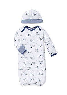 Little Me 2-Piece Puppy Sleeper Gown and Hat Set