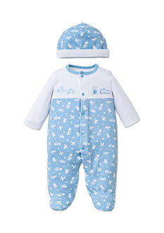 Little Me 2-Piece Toy Time Footie and Hat Set
