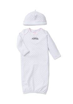 Little Me 2-Piece Bird Sleeper Gown and Hat Set