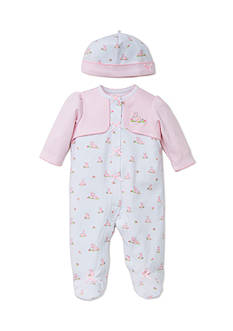 Little Me 2-Piece Bunny Footie and Hat Set