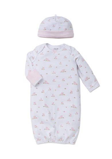 Little Me 2-Piece Bunny Gown and Hat Set
