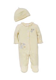 Little Me 2-Piece Butterfly Daisy Footie and Hat Set