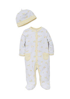 Little Me 2-Piece Duck Footie and Hat Set