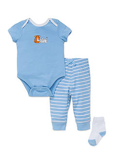 Little Me Tiger Bodysuit Pant Set with Socks