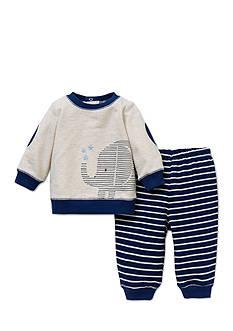 Little Me 2-Piece Elephant Sweatshirt and Pants Set
