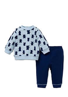 Little Me 2-Piece Bear Sweatshirt and Pants Set