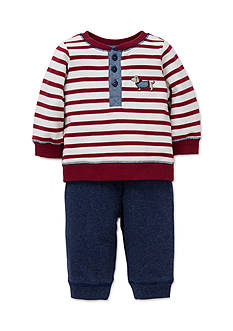 Little Me 2-Piece Dachshund Sweatshirt and Pants Set