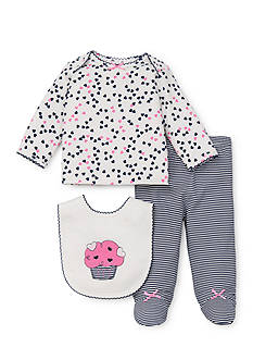 Little Me 3-Piece Cupcake Lap Set