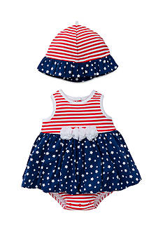 Little Me Stars Stripes Popover With Hat