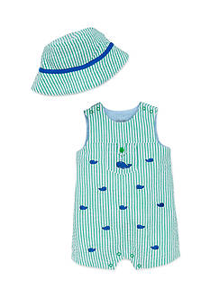Little Me 2-Piece Whale Hat and Romper Set