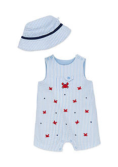 Little Me 2-Piece Crab Hat and Romper Set