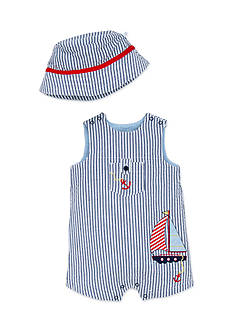 Little Me 2-Piece Sailboat Hat and Romper Set