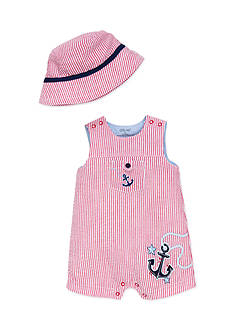 Little Me 2-Piece Nautical Hat and Romper Set
