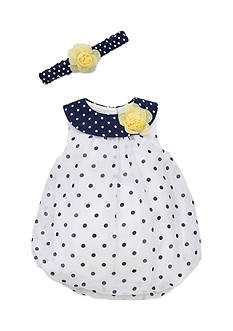 Little Me 2-Piece Dot Headband and Dress Set