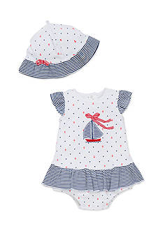 Little Me 2-Piece Sailboat Popover and Hat Set