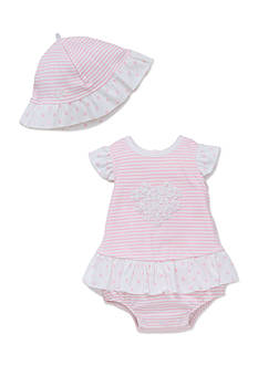 Little Me 2-Piece Daisy Heart Popover and Hat Set