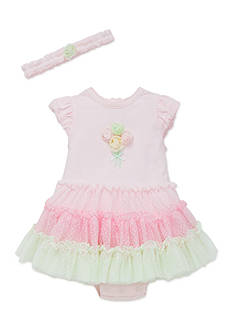 Little Me 2-Piece Bouquet Tutu Popover and Headband Set