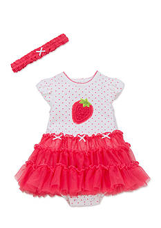 Little Me 2-Piece Strawberry Tutu Popover and Headband Set