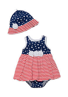 Little Me 2-Piece Star Hat and Dress Set